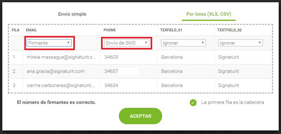 Signaturit_Envío de documentos por lotes a través de SMS.